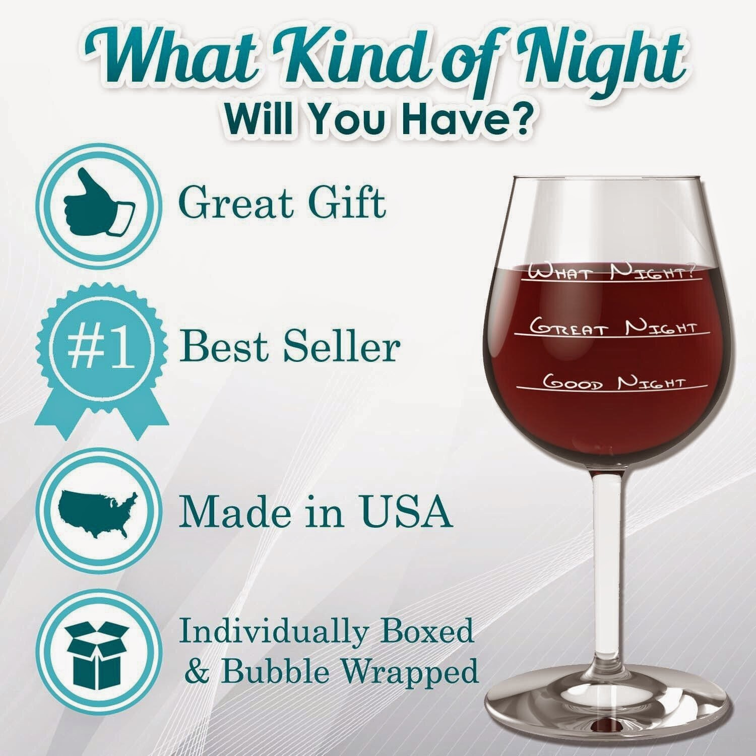 What Night Funny Wine Glass