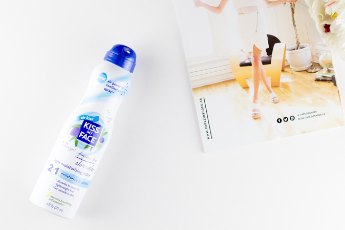 kiss my face 2 in 1 light moisturizing lotion spray review