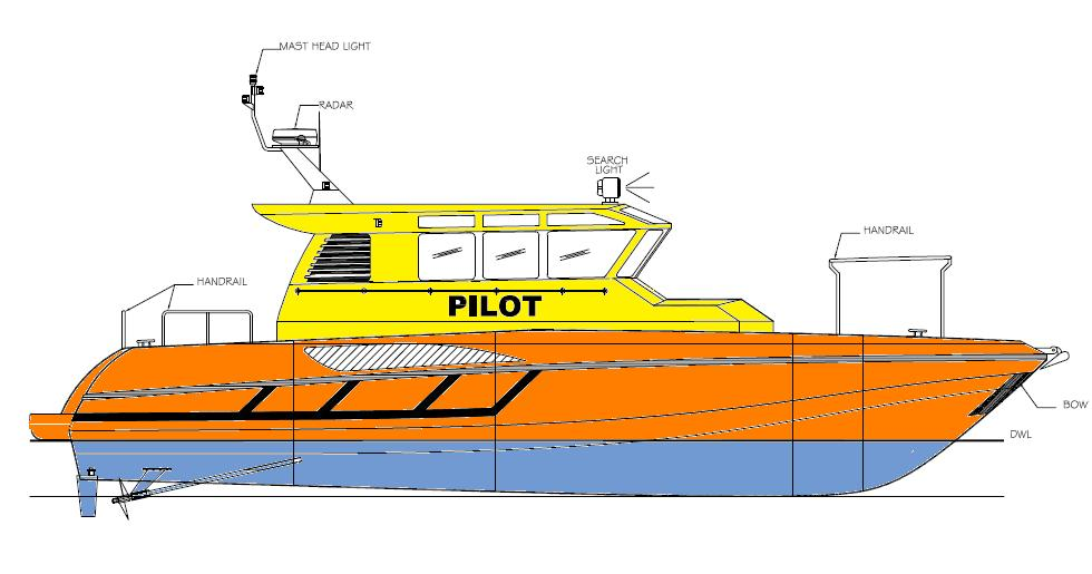 BOAT DESIGN AND MARINE ENGINEERING SERVICES: 13.80M ALUMINIUM PILOT BOAT