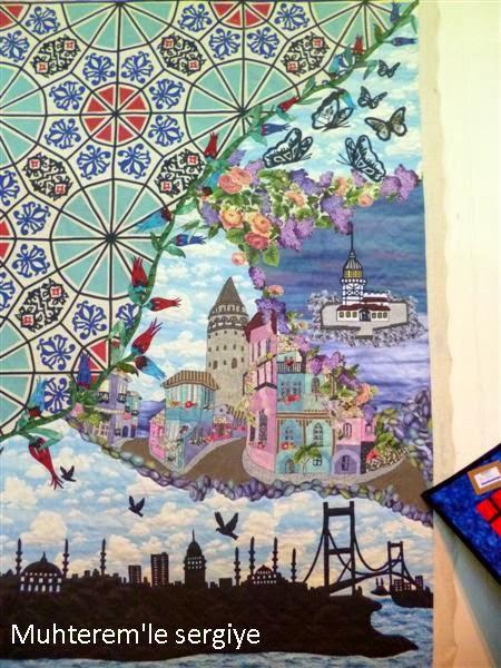 istanbul desenli kırkyama yatak örtüsü