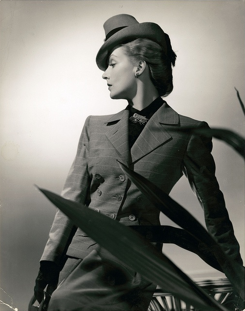 Late 1930s Business Suit Glamour #30s #fashion #1940s #style #glamour