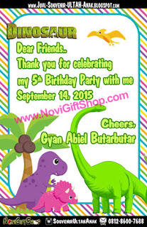 Thank Card Dinosaurs Gyan Sample Tema Design Thanks Card (Kartu Ucapan Terima Kasih)