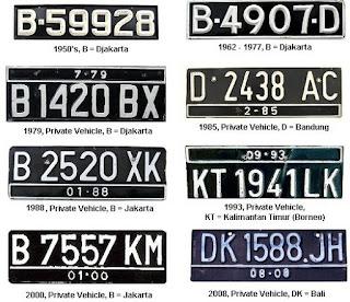Daerah Plat Kendaraan/Motor (Guru Pantura)