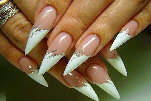 White Nails Design Ideas...