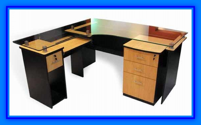 Escritorio para oficina modernos de melamina web del - Como hacer una mesa escritorio ...