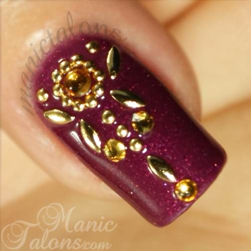 Indian Sari Inspired Nail Art, IBD Just Gel Indian Sari