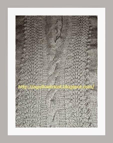 Colete com cordas em tricot finalizado