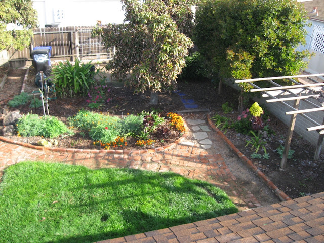 39 cliff may home in san diego 5 backyard brick path and clothesline