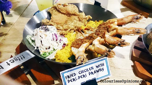 Fish & Co Malaysia Fried Chicken with Peri-Peri Prawns