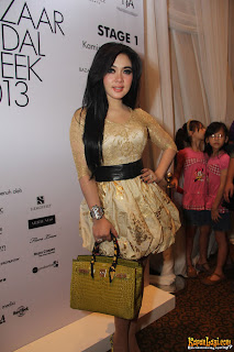 Photos Syahrini In Bazaar Bridal Week