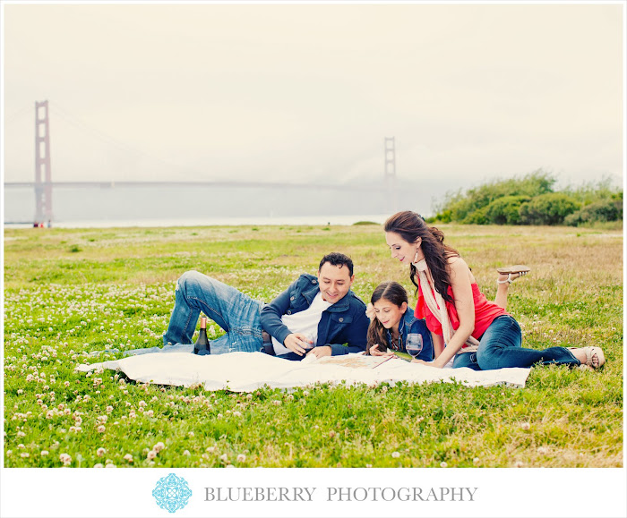 San Francisco golden gate park crissy field engagement photography session