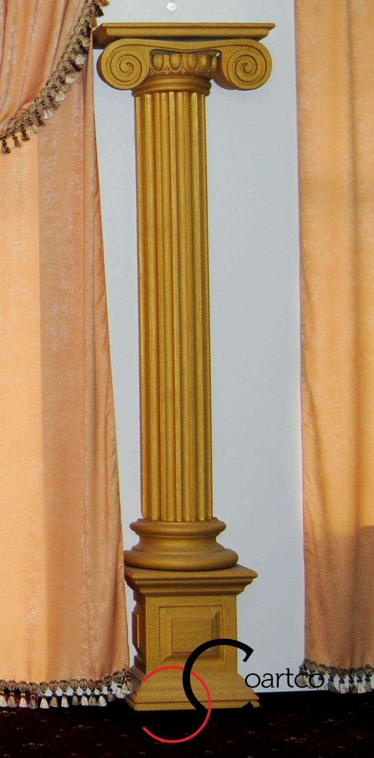 coloane grecesti, Coloane polistiren in stil ionic, coloane decorative resturant