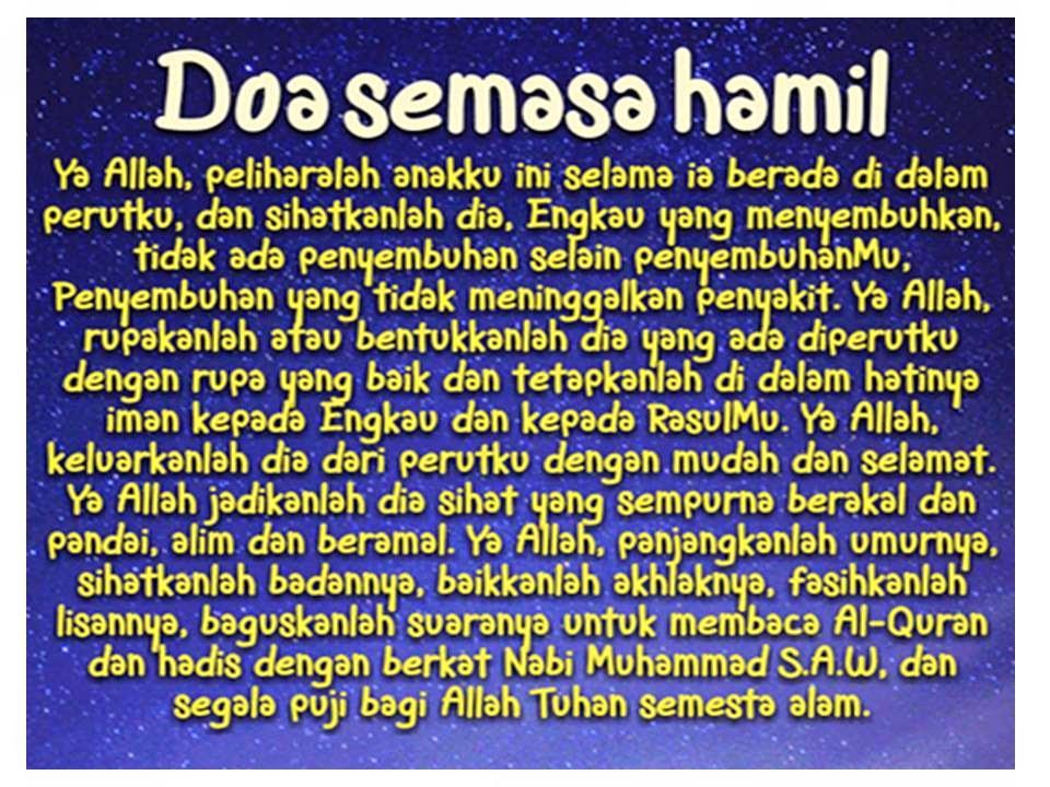 Wordless Wednesday Doa Semasa Hamil