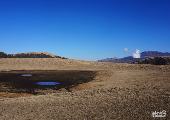 Kusasenri et cratère, Mont Aso