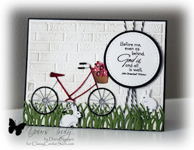 Diana Nguyen, Sweet 'n Sassy Stamps, Memory Box, bike, IO, bunnies