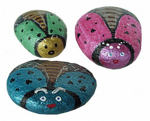 stone painting fish