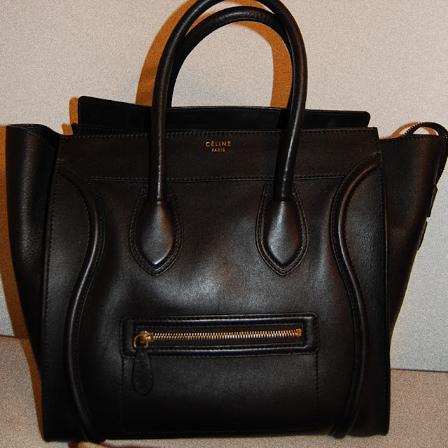 celine mini luggage black price