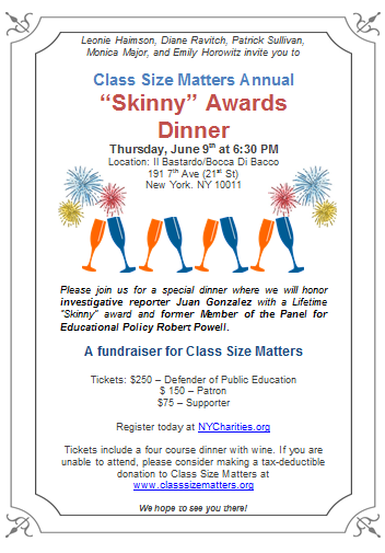 Join us for our Annual Skinny Awards Dinner, Purchase Tickets Today!