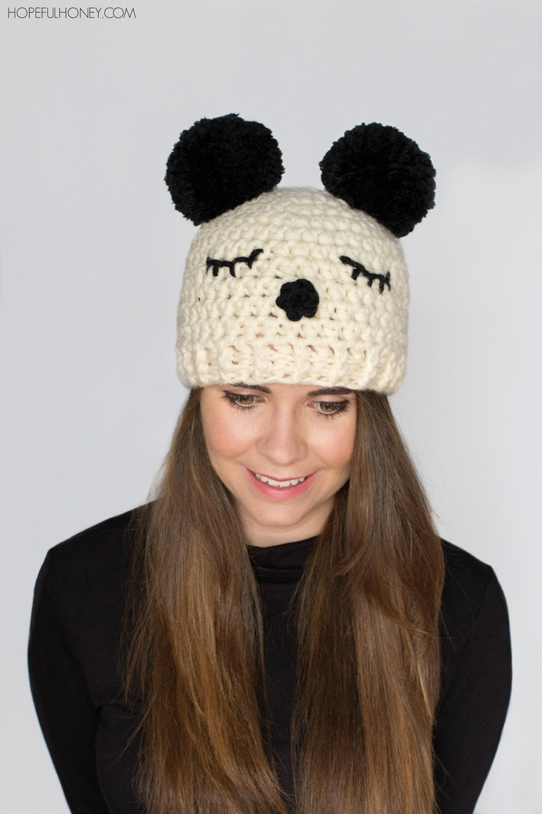 Attractive Knit Panda Hat Pattern Ensign - Sewing Pattern for ...