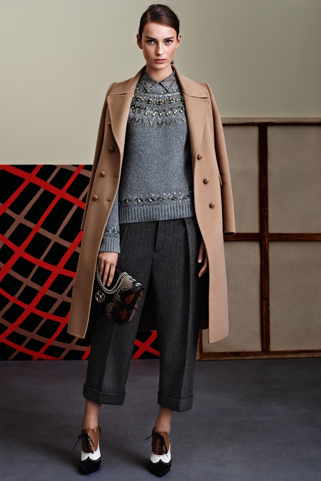 transitional style inspiration from the catwalk / how to wear cropped trousers in autumn / trends / inspiration / Gucci / via fashionedbylove.co.uk / british fashion & style blog