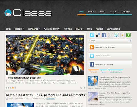 Classa Blogger Theme