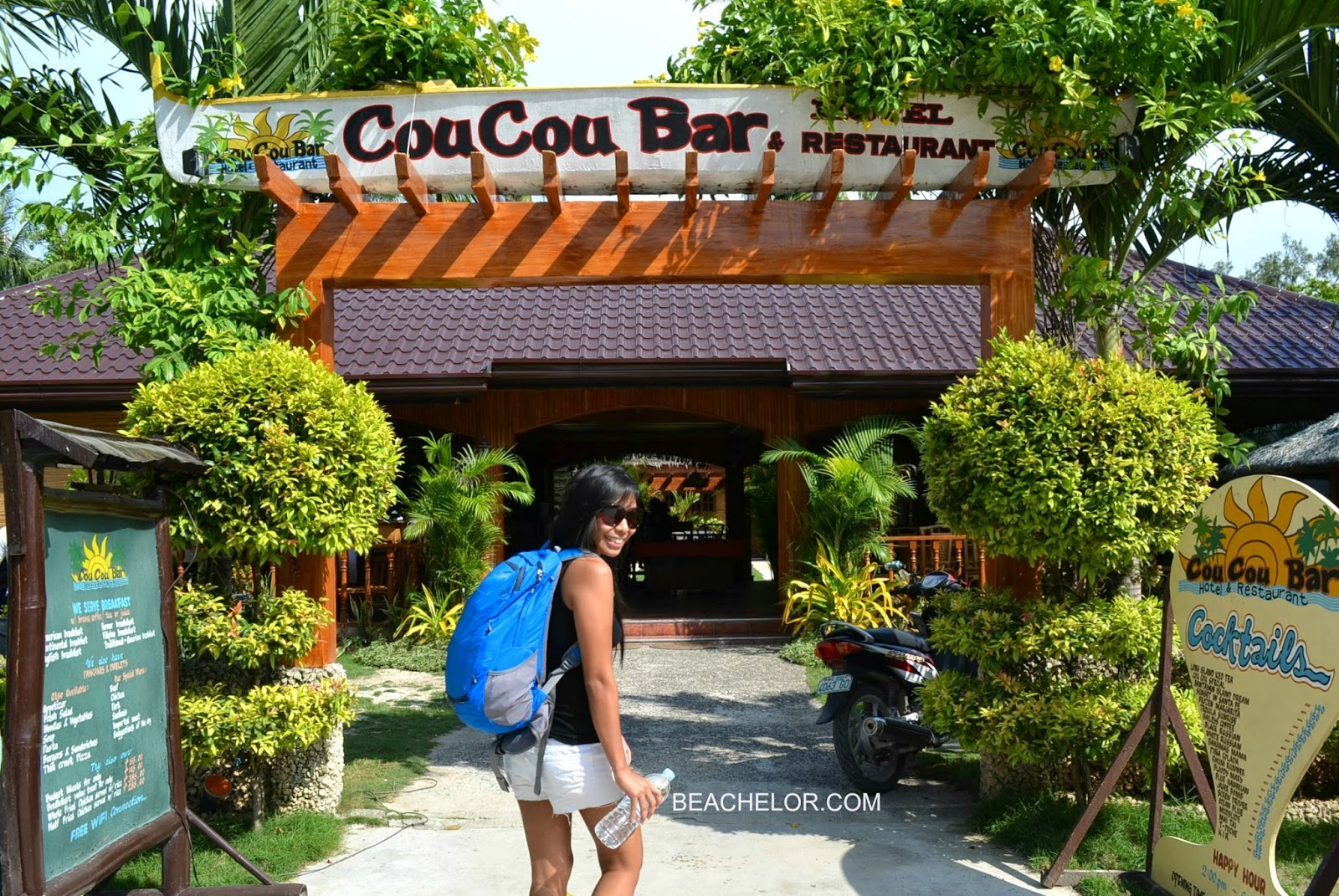 welcome to coucou bar hotel in bantayan island