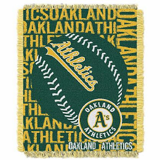 Oakland Athletics MLB Triple  Woven Jacquard Decorative Throw