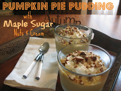 Pumpkin Pie Pudding Recipe!