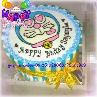 Cake gambar doraemon