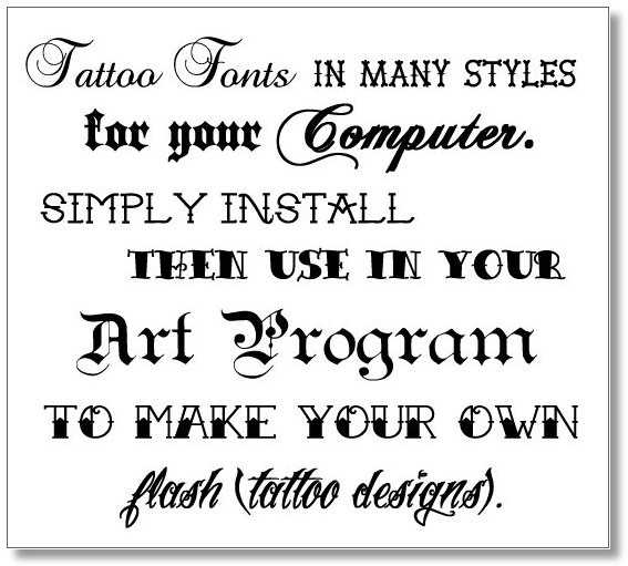 good word tattoo fonts