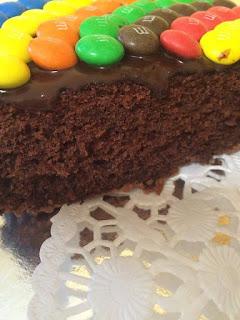Recette du gâteau aux m&m's