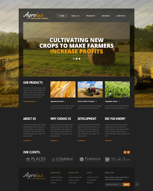 Agriculture Responsive Website Template #46550