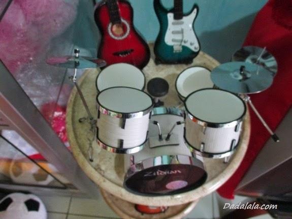 Jual Miniatur Drum Zildjian Warna Krem Polos
