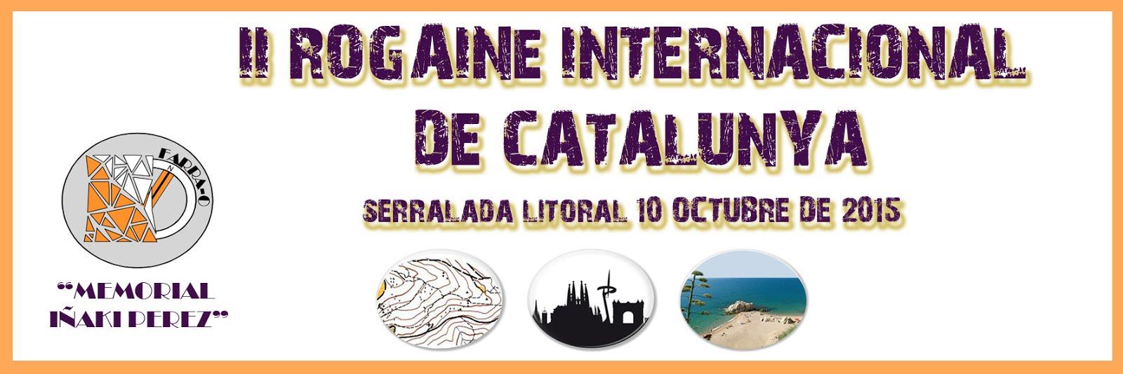 "10/10/2015 - II ROGAINE INTERNACIONAL 12h DE CATALUNYA ""Memorial Iñaki Pérez"""