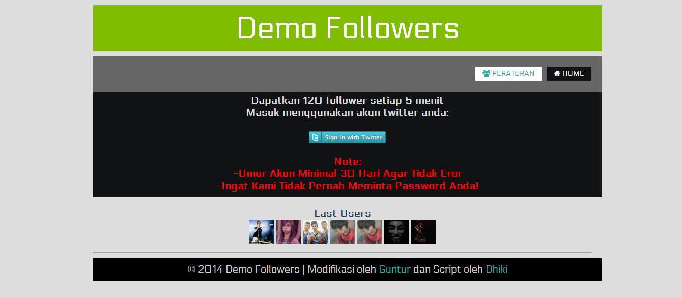 Cara membuat Web Auto Follower Twitter