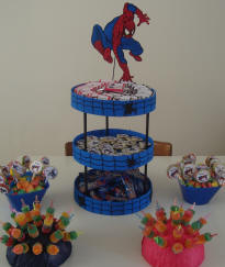Children Parties, Spiderman Centerpieces Decoration