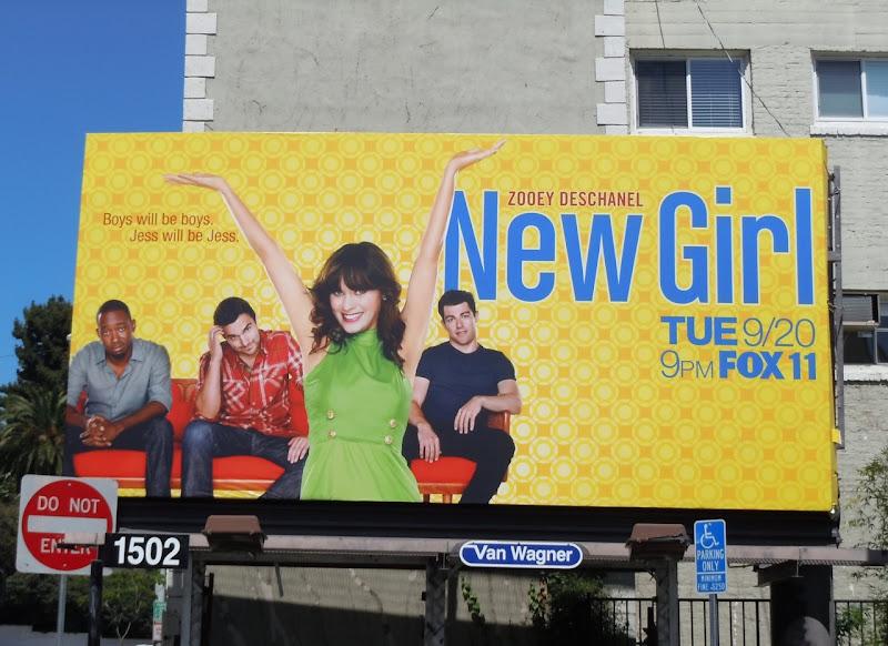 Zooey Deschanel New Girl billboard