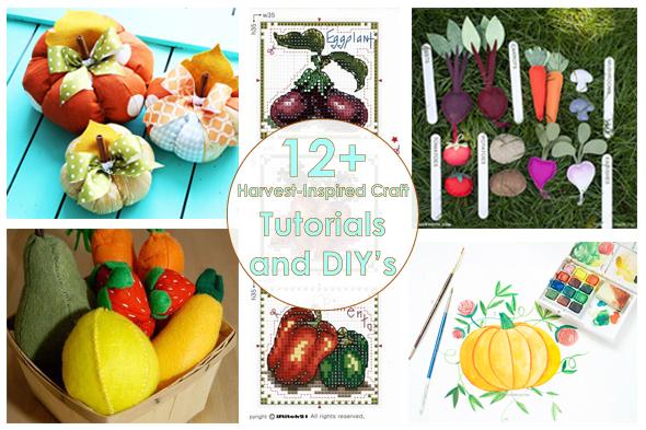 Рукодельный обзор, New Tutorials and DIY's to Try, handmade, своими руками, мастер классы, урожай, тыквы, harvest, pumpkin