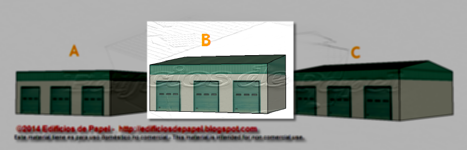 B building of the Logistic Warehouse paper model