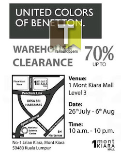 United Colors of Benetton Warehouse Clearance 2013