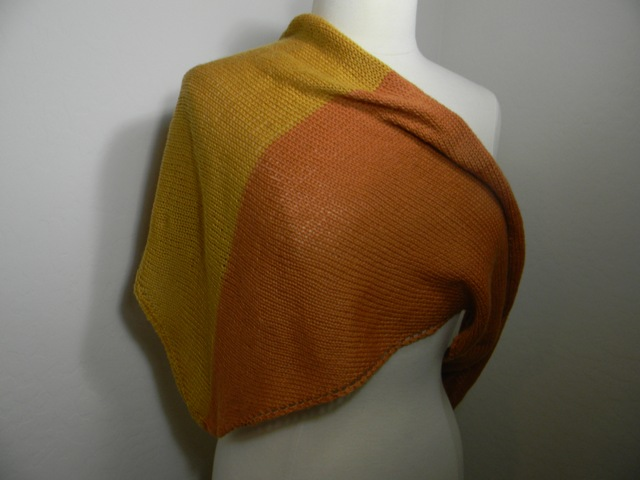 Louise Knits: Very easy shawl knitted sideways