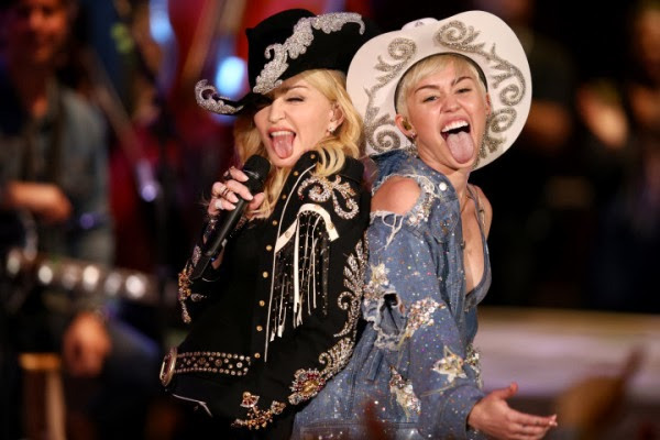 Madonna, Miley Cyrus, Don't Tell Me, We Can't Stop, Madonna and Miley Cyrus mashup