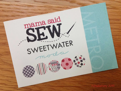 'Mama Said Sew' by Sweetwater for MODA