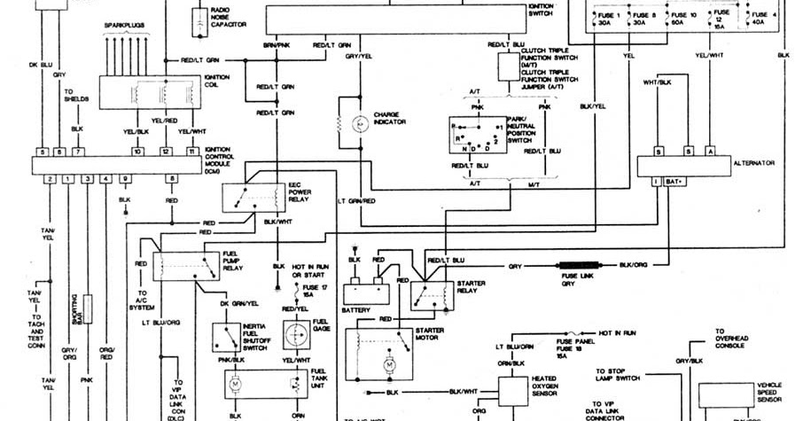 ddmp automotriz  diagrama electrico ford explorer 1992 4 0