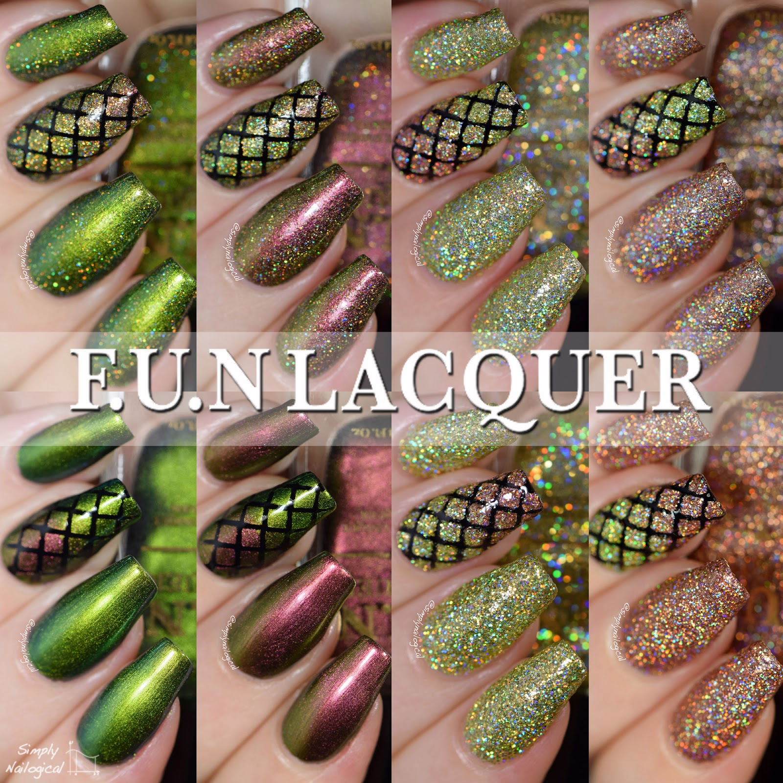 FUN Lacquer Christmas 2014 collection swatches