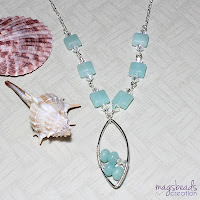 Amazonite Necklace by MagsBeadsCreation