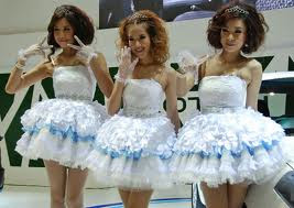 Cute Girls of PROTON in Bangkok Motor Show