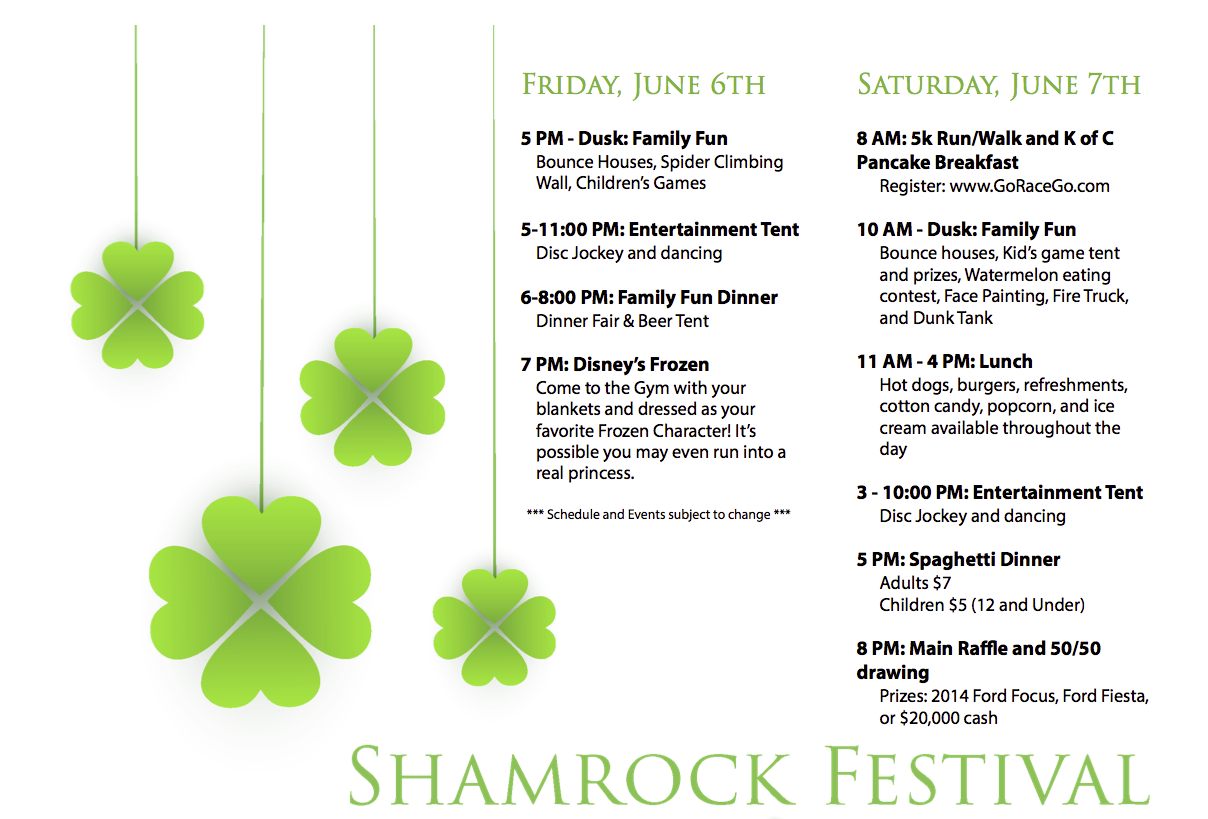 St Patrick's Shamrock Festival: Win a Brighton Ford 2014 Ford Focus or Fiesta!