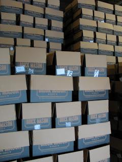 Smoked Vanilla Gorilla boxes waiting to be filled at Red Brick Brewing Company