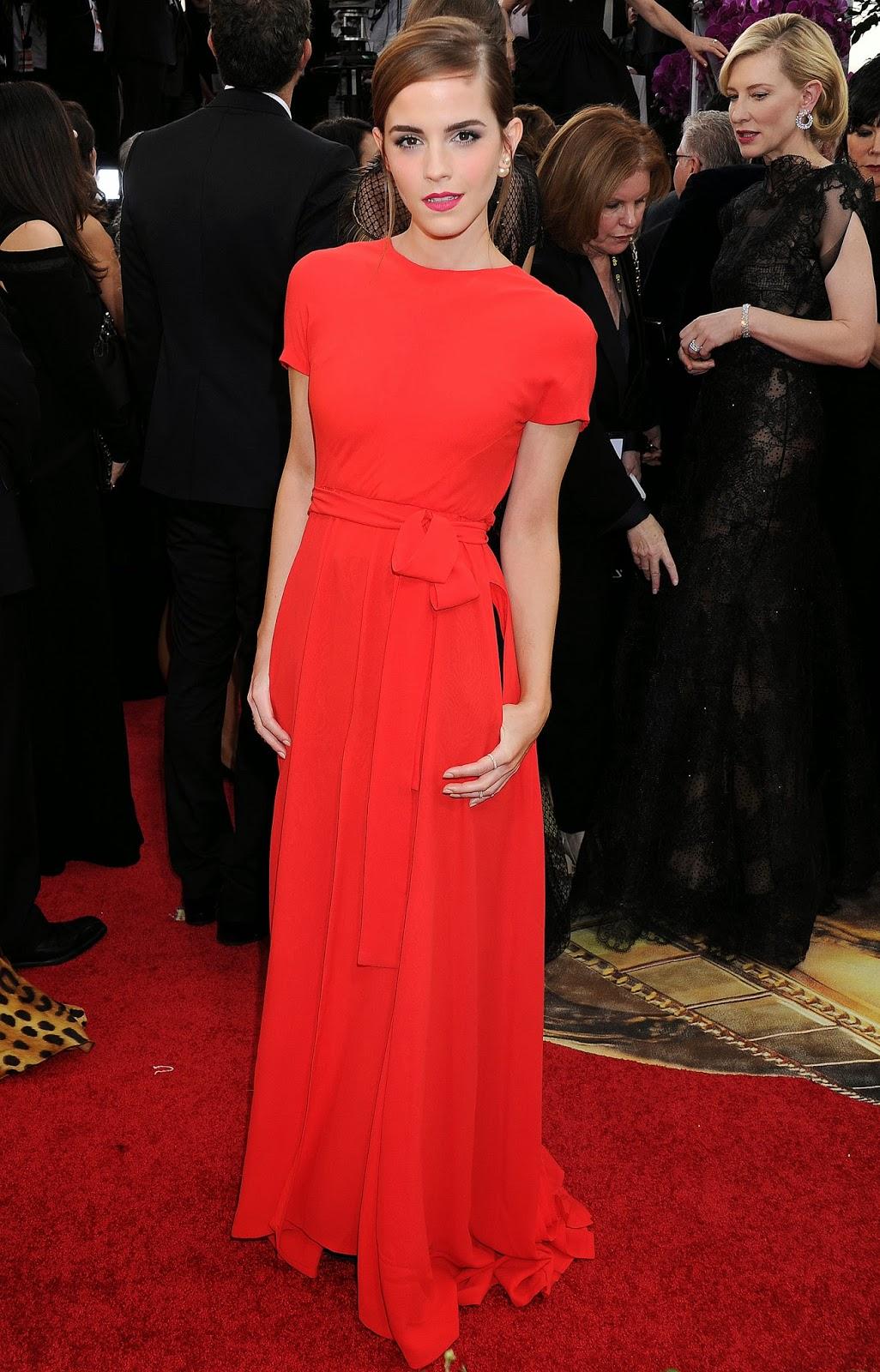 Red Carpet Dresses: Emma Watson - 71st Annual Golden Globe